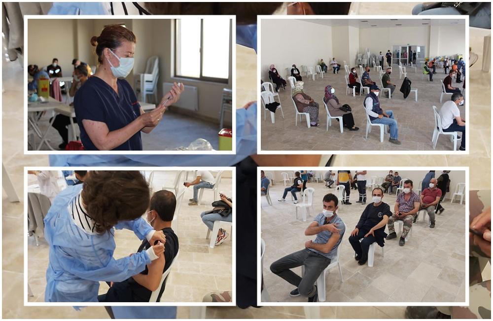 Beldemizde Sağlık Müdürlüğü mobil ekipleri tarafından koronavirüs aşılaması yapıldı…