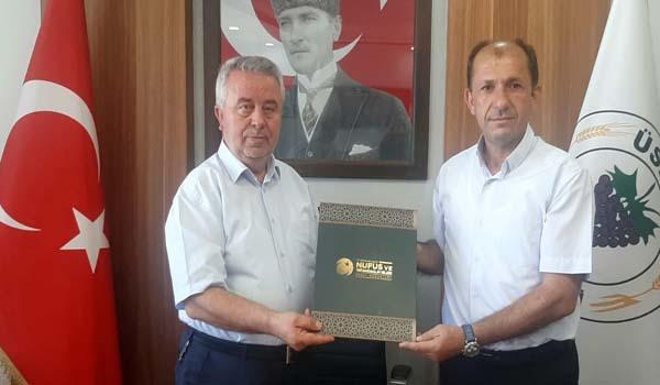 Merkez İlçe Nüfus MüdürüKenan Atay'dan başkanımıza ziyaret…